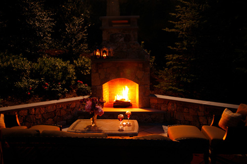 Madison Stone Fireplace - Outdoor Fireplace