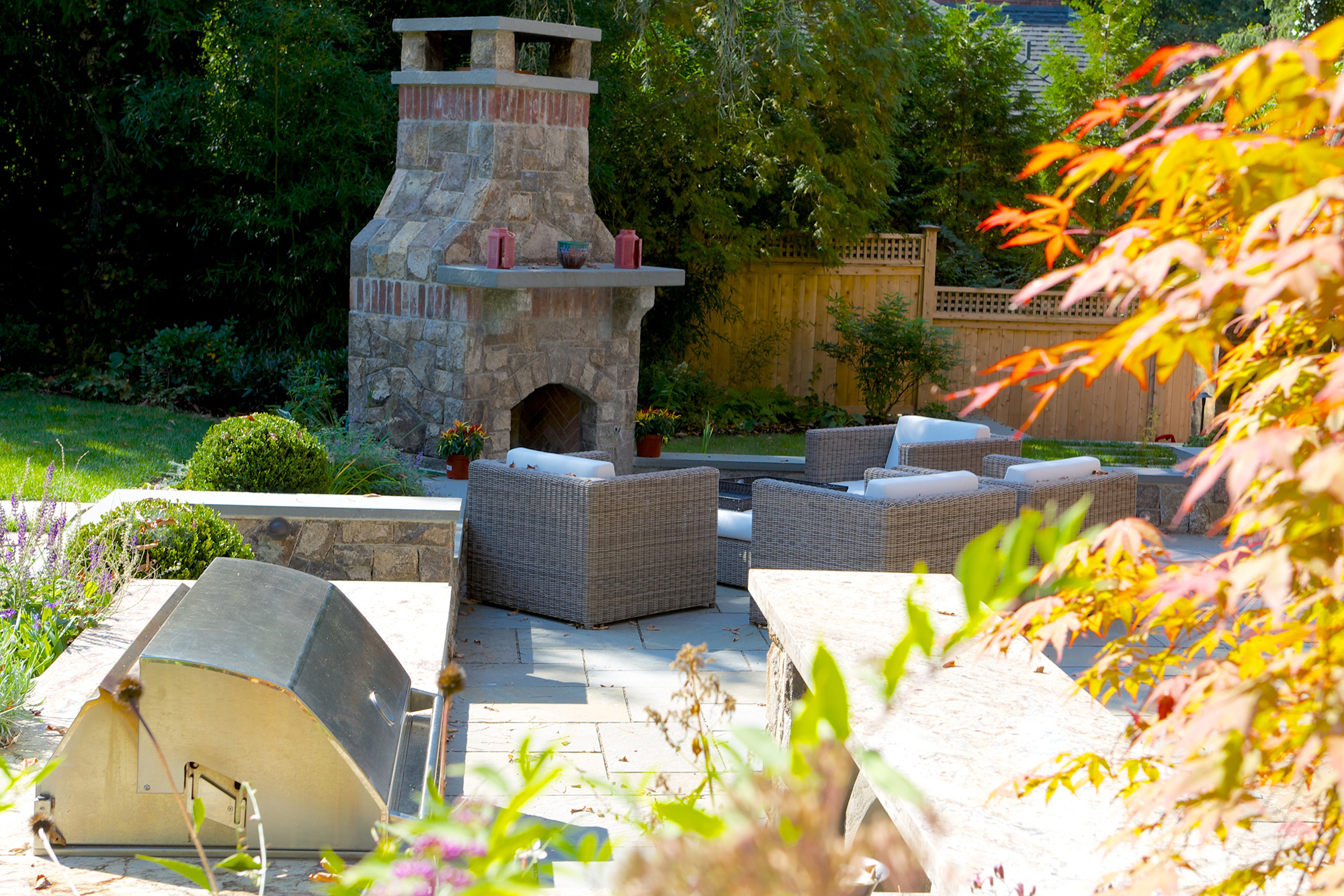 Old World Charm - A NJ landscaping design complementing a century-old home