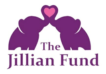 The Jillian Fund - 2 Elephants with trunks in a heart, helping families with sick children
